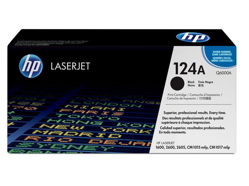 HP Toner Laser 124A Negro 2.500pg Q6000A