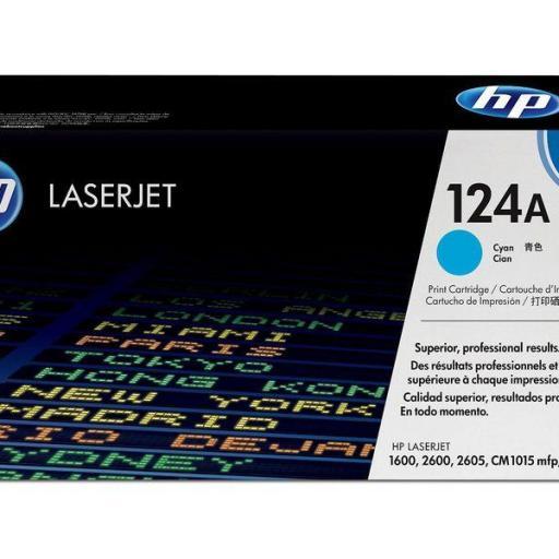 HP Toner Laser 124A Cyan Q6001A