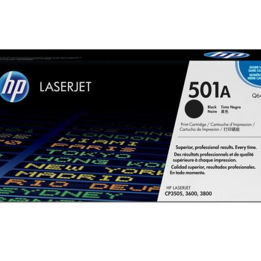 HP Toner Laser 501A Negro Q6470A