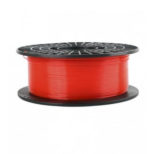1Kg de Filamento Translúcido PLA 1.75mm 1 Kg Rojo.