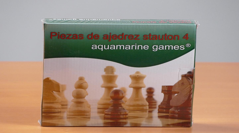 Piezas de ajedrez Stauton 4 madera (aquamarine game)