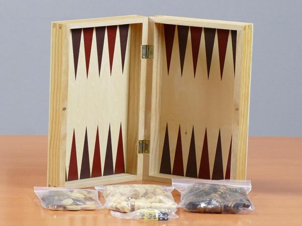 Estuche 3 en 1 Ajedrez-Damas-Backgammon (aquamarine game) madera [3]