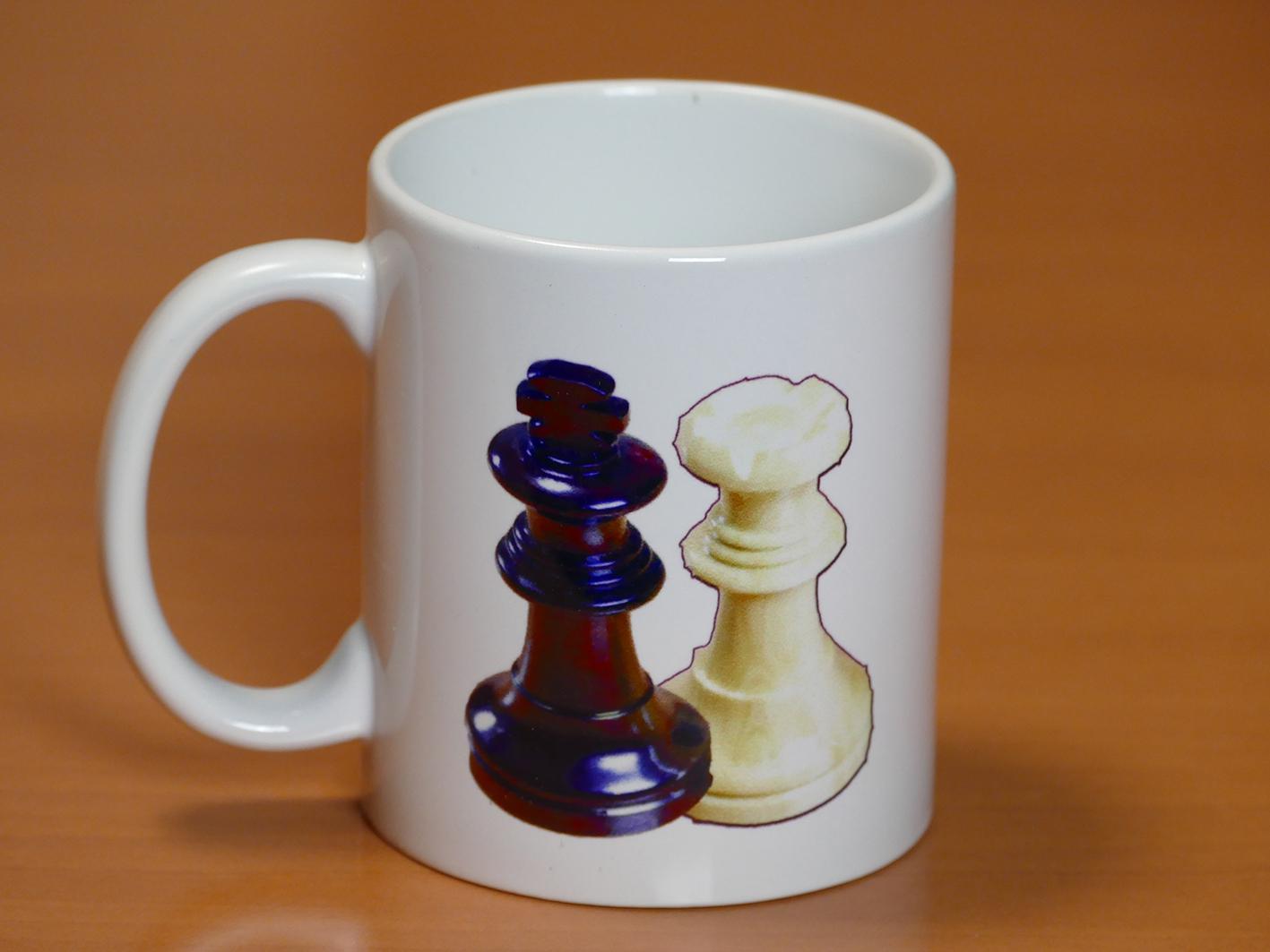 Taza piezas de ajedrez Rey y Dama