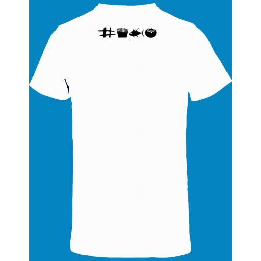 Camiseta blanca con doble diseño de ajedrez [1]