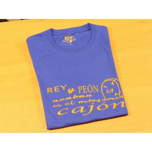 Camiseta azul con diseño Rey y Peón...  [1]