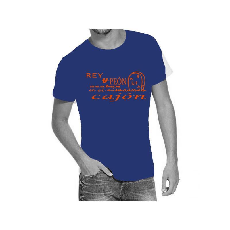Camiseta azul con diseño Rey y Peón...