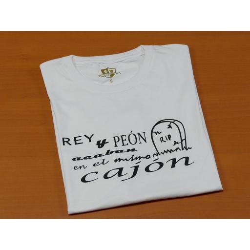 Camiseta blanca con diseño Rey y Peón  [1]