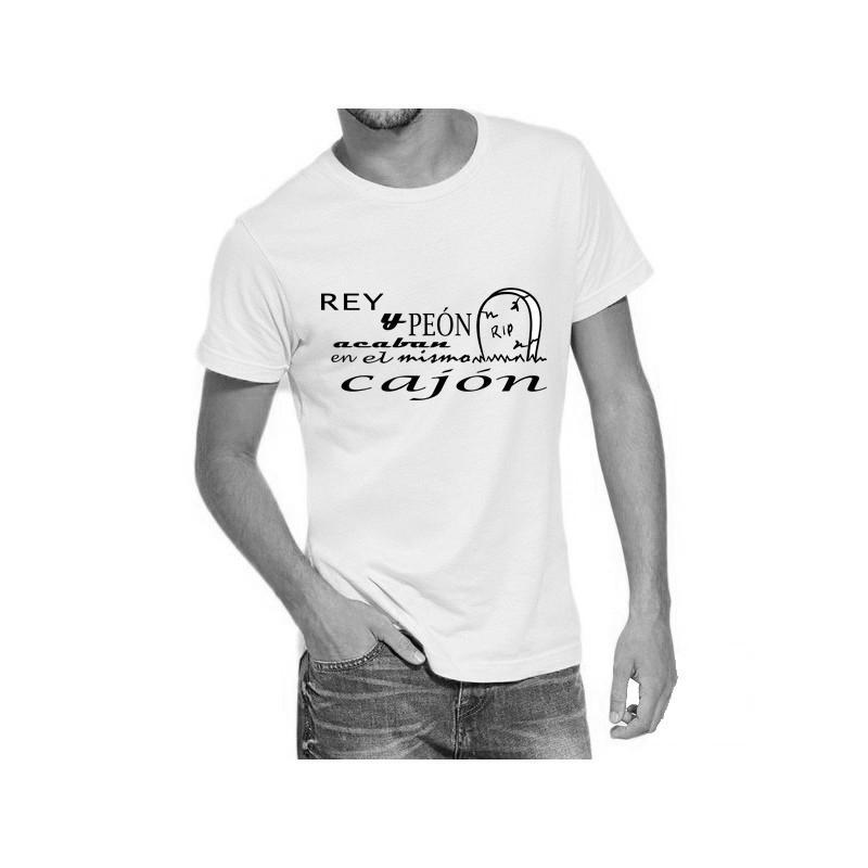 Camiseta blanca con diseño Rey y Peón