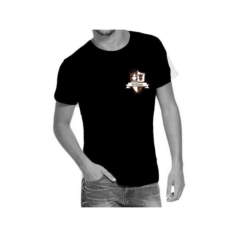 Camiseta negra con logo de Reydama