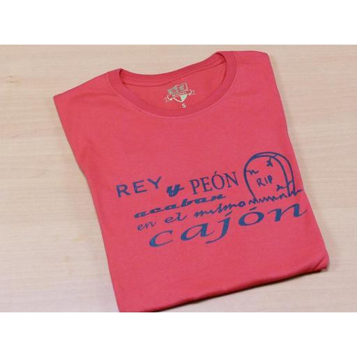 Camiseta roja con diseño Rey y Peón  [1]