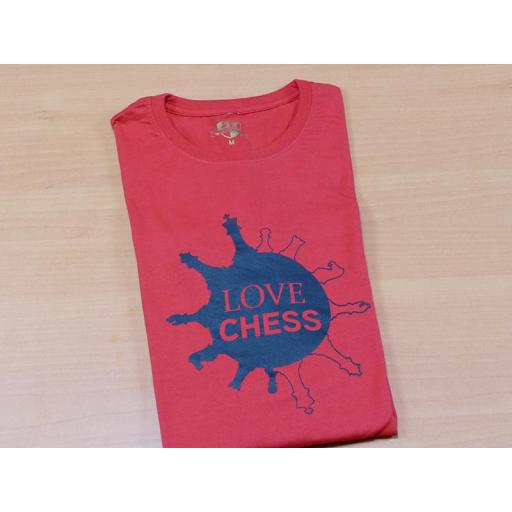 Camiseta roja con diseño Love Chess [1]