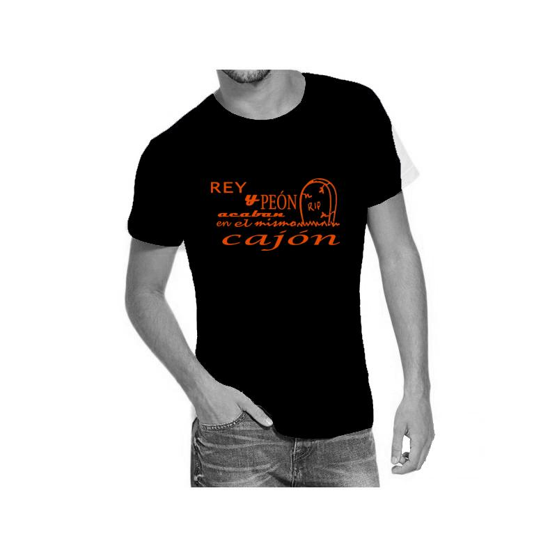 Camiseta negra con diseño Rey Peón