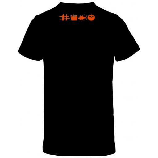 Camiseta negra con doble diseño de ajedrez [1]