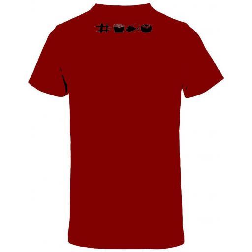 Camiseta roja con doble diseño [1]