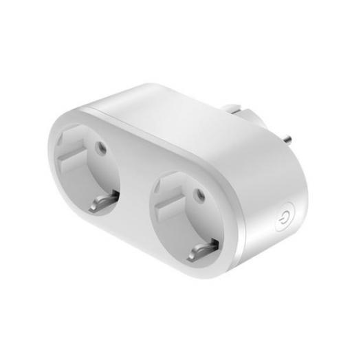 ENCHUFE DOBLE INTELIGENTE WIFI 16 A BLANCO