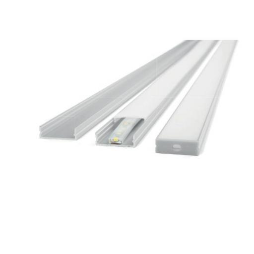 PERFIL SUPERFICIE DOBLE ALUMINIO BLANCO P/ TIRA LED [0]