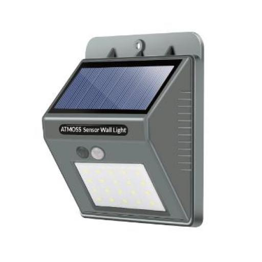 APLIQUE LED SOLAR PARED 20LED 4,5W IP65 ( Seleccionar Color de Luz )