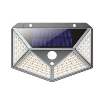 APLIQUE LED SOLAR PARED 100LED 8W IP65 (Seleccionar Color de Luz)
