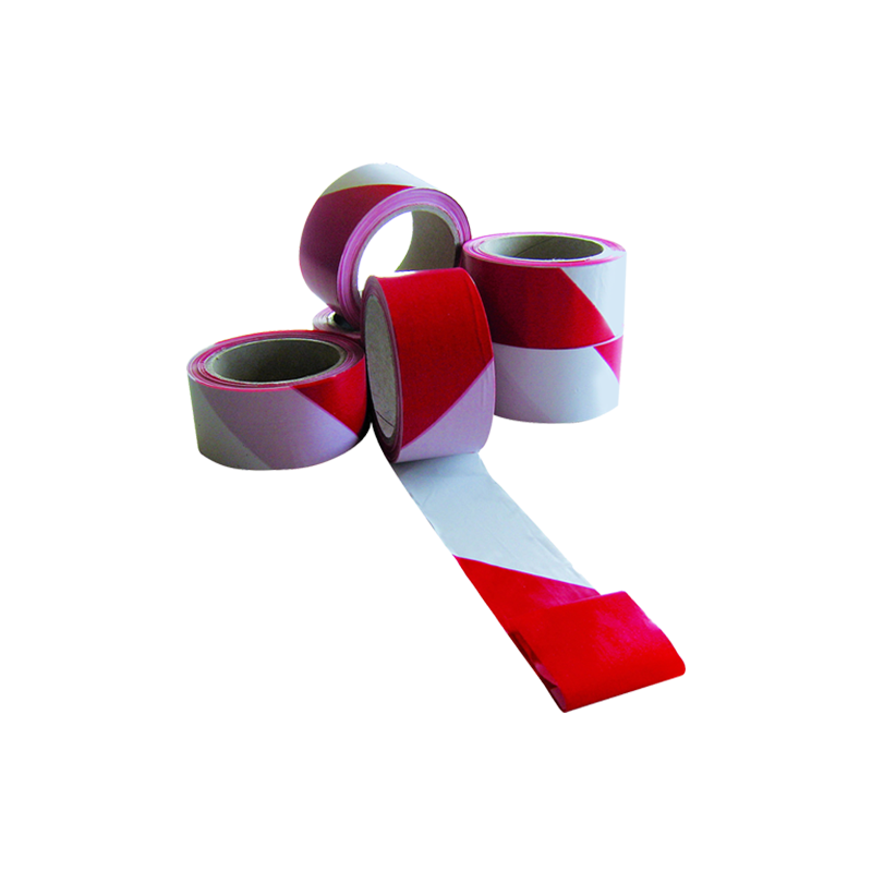Cinta de señalización y marcado. Blanca/Roja