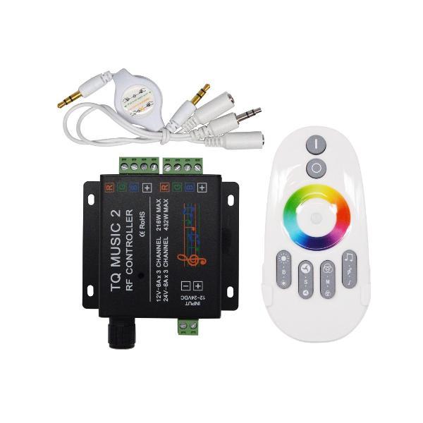 CONTROLADOR LED TIRA RGB MUSICAL 24V-432W
