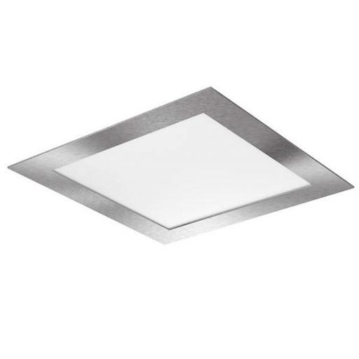 DOWNLIGHT ELYOS CUADRADO PLANO 12W ALUMINIO BRUSHED