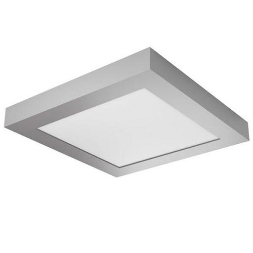 DOWNLIGHT ELYOS CUADRADO SUPERFICE 12W CROMO MATE