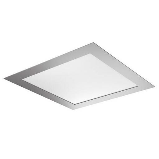 DOWNLIGHT ELYOS CUADRADO PLANO 18W ALUMINIO BRUSHED