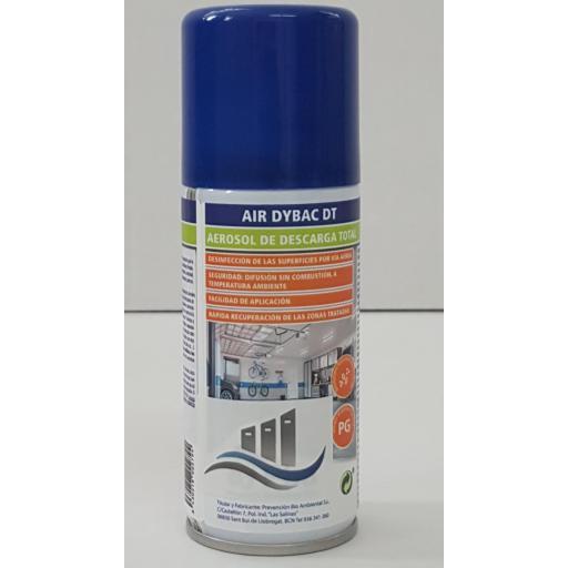 Desinfectante aerosol con válvula descarga total