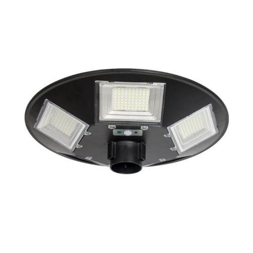 FAROLA SOLAR LED UFO CON MANDO 200W IP65 ( Seleccionar Color Luz )