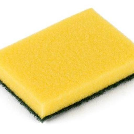 Esponja con fibra verde XL (Pack 4 ud.)