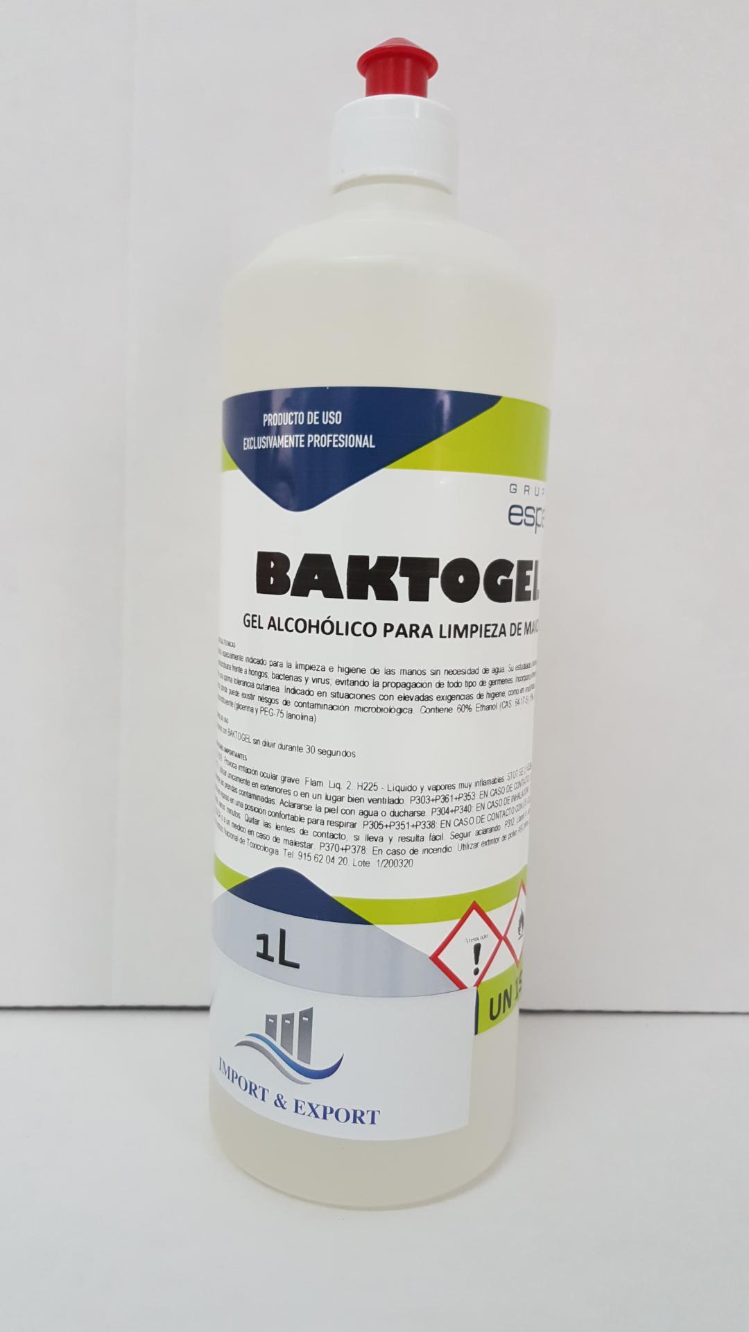 Gel Hidroalcohólico para desinfección total de manos