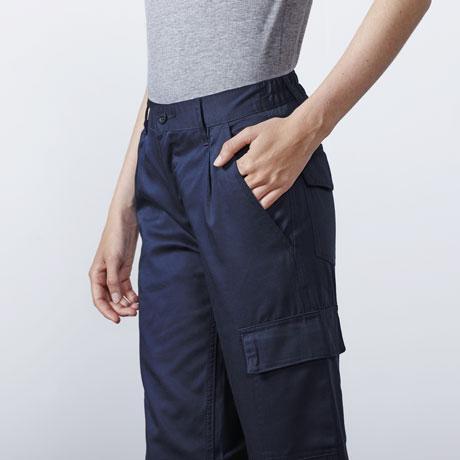 Pantalón Multibolsillos Mujer (Azul Marino)