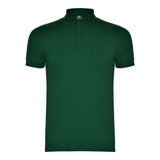 Polo Hombre con bolsillo - Verde botella (seleccionar talla)