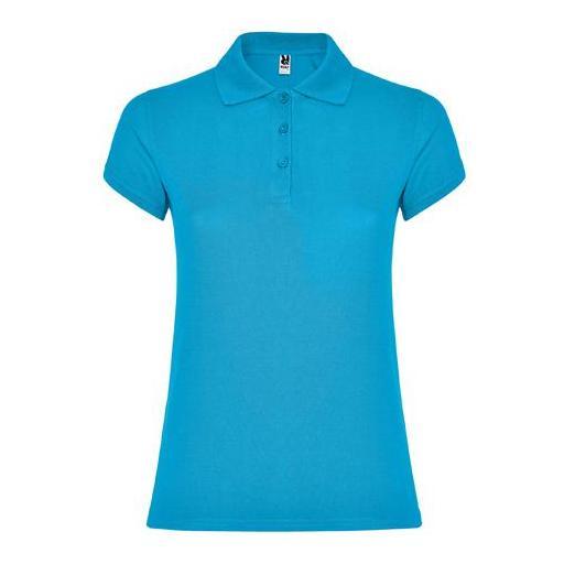 Polo de Mujer Star (Azul Turquesa)