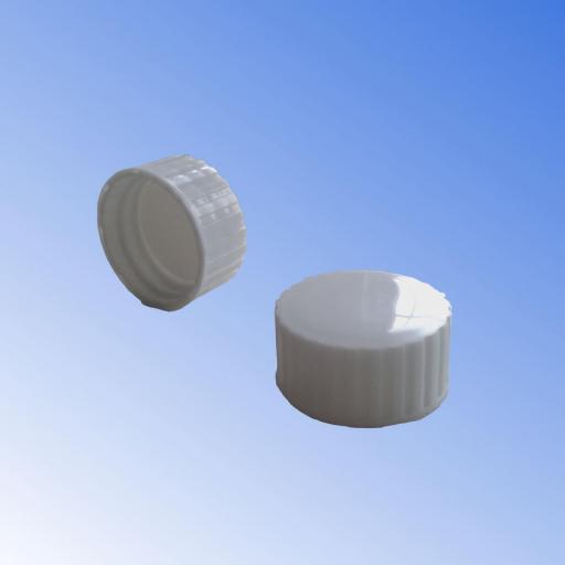 Tapón blanco con disco anti retorno de rosca