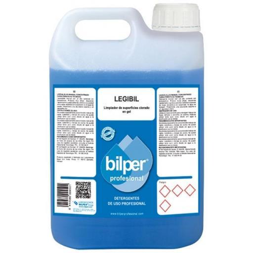 LEGIBIL Limpiador de superficies clorado en gel Garrafa 5 Litros