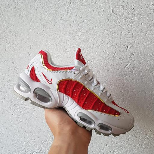 AIR MAX TAIWIND BLANCO ROJO BRILLANTE