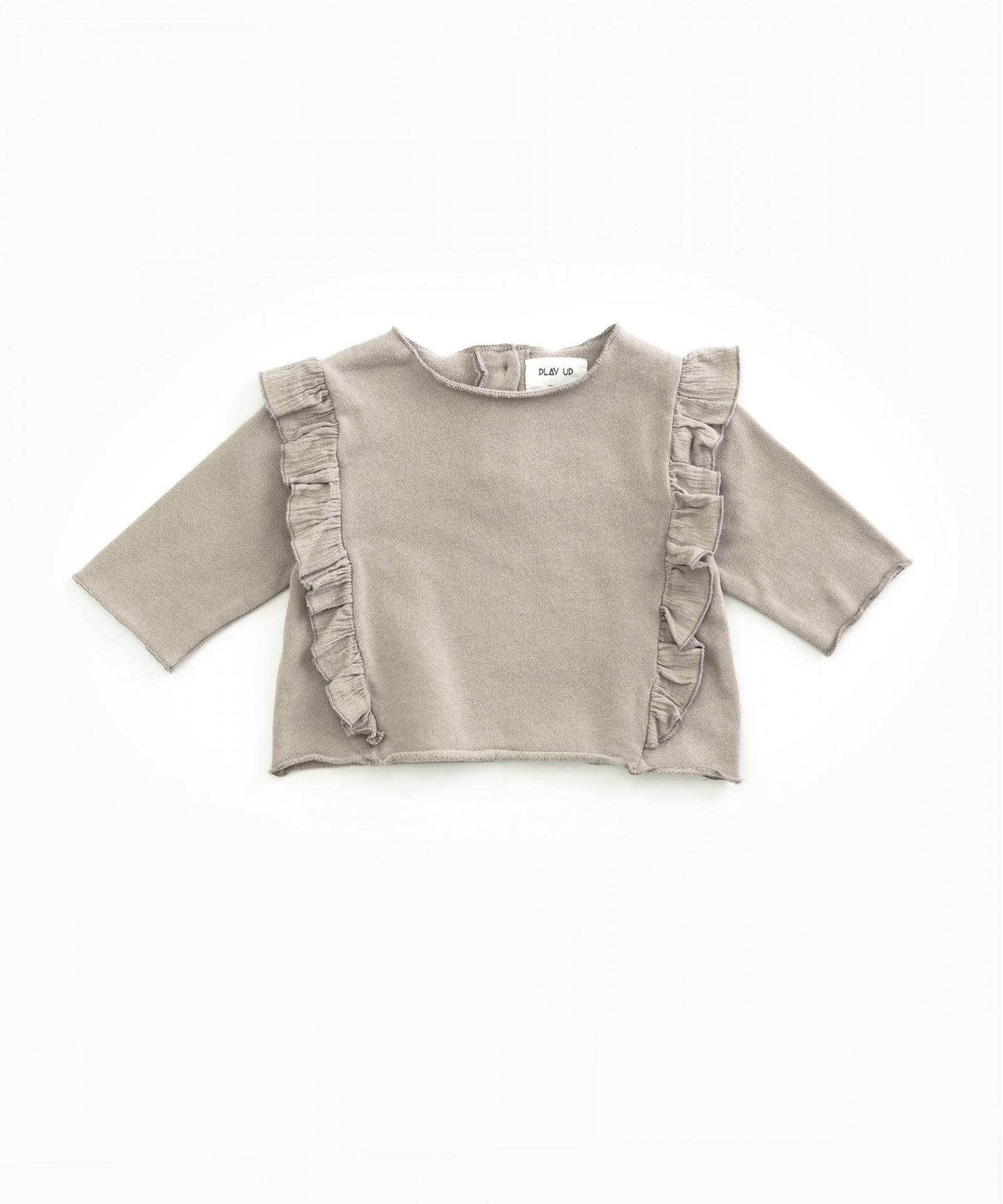 Jersey de algodón PLAY UP orgánico con volante   Woodwork