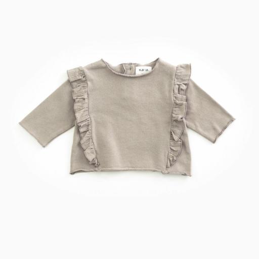 Jersey de algodón PLAY UP orgánico con volante | Woodwork