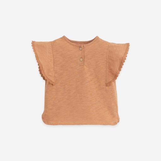Camiseta de algodón orgánico con aplicaciones Play Up