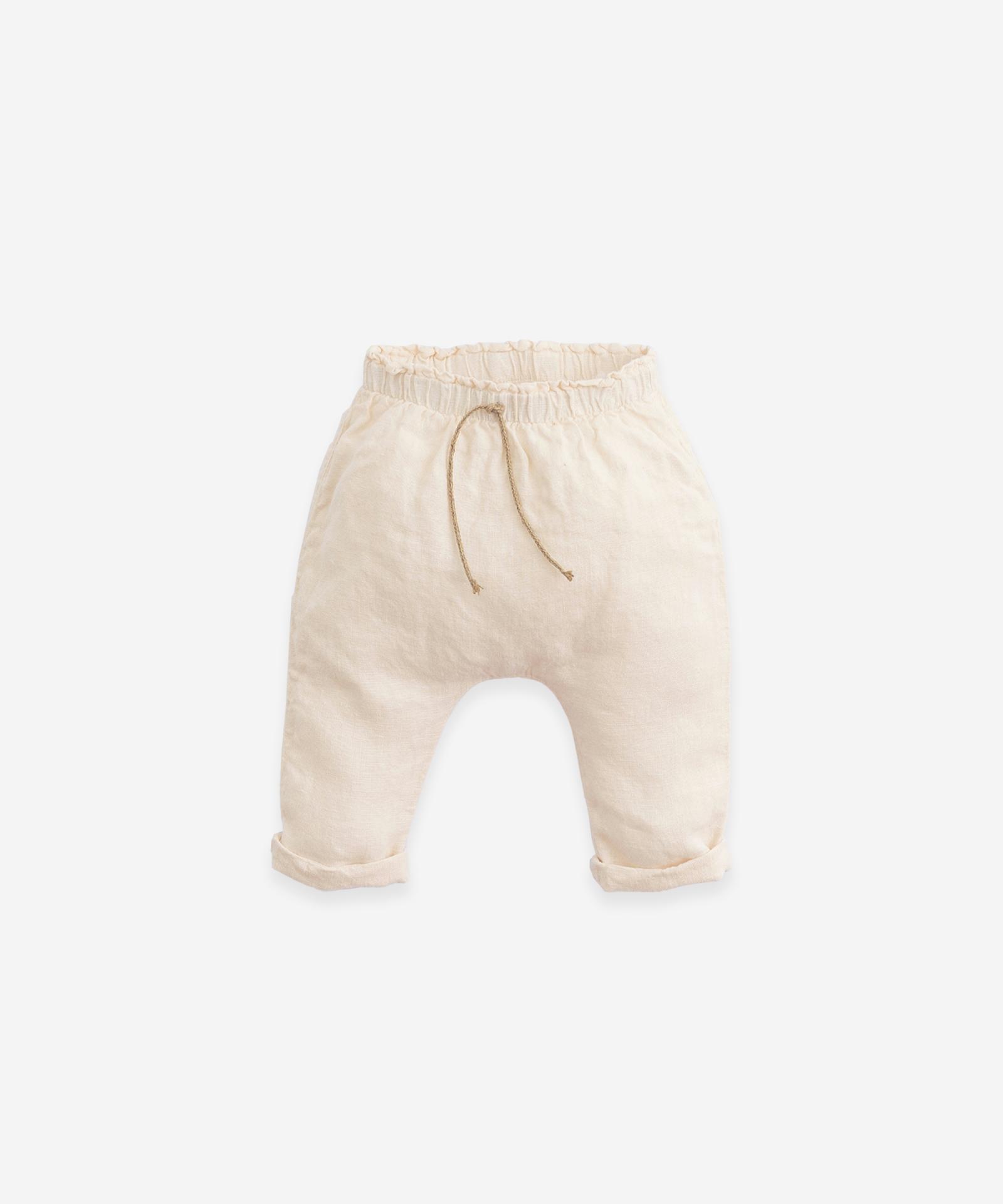 Pantalón de lino con cintura elástica Play Up