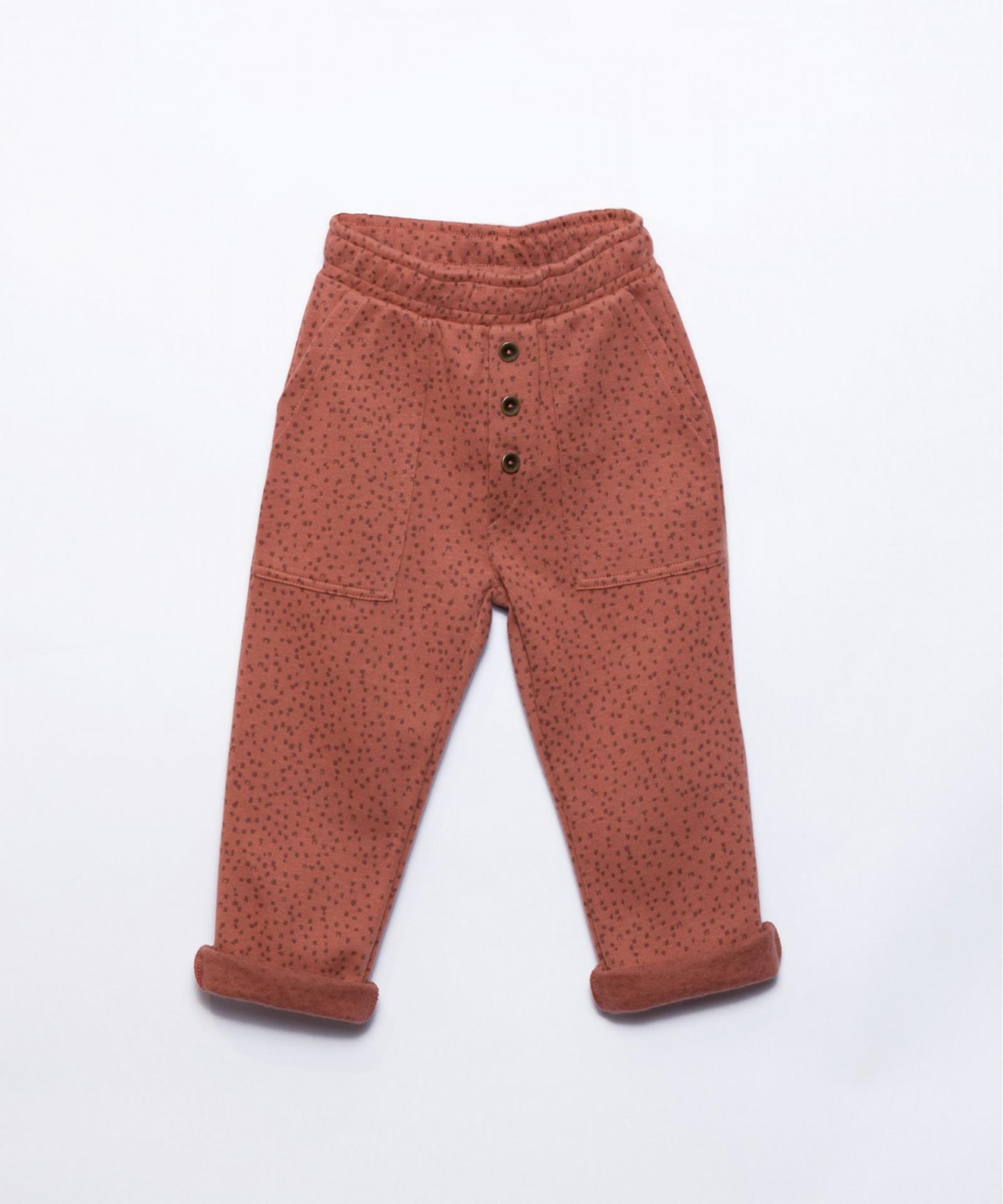 Pantalón de algodón orgánico con patrón PLAY UP