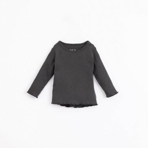 Camiseta de algodón orgánico PLAY UP con abertura en el hombro