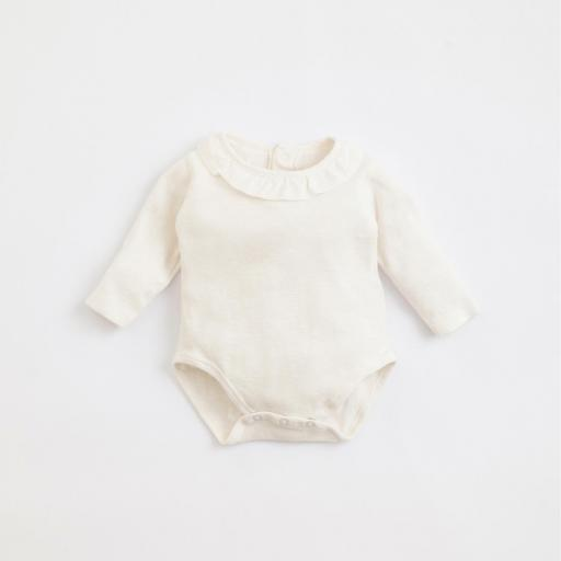 Body de algodón orgánico con abertura de corchetes PLAY UP