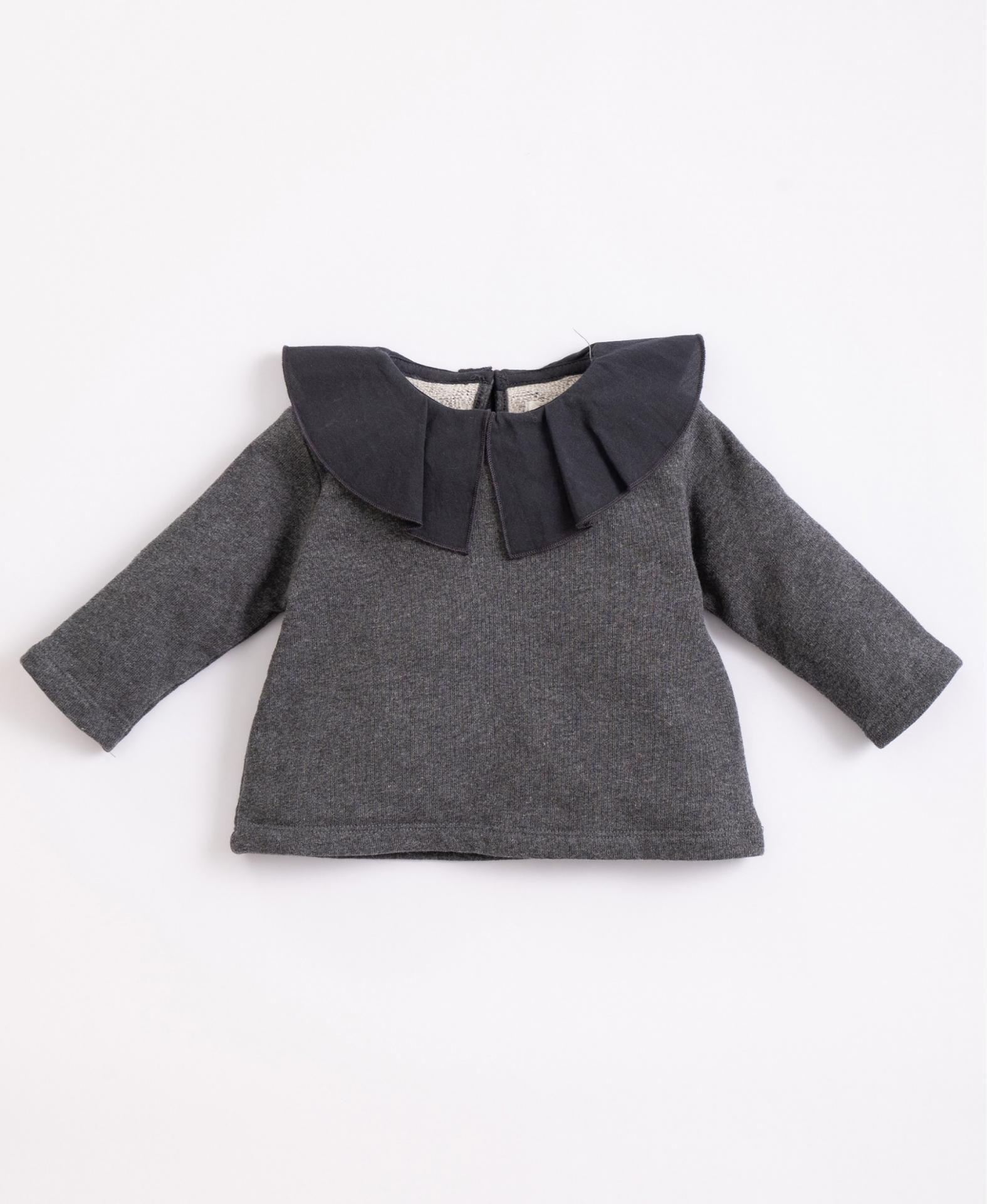 Jersey de algodón con cuello de tela PLAY UP