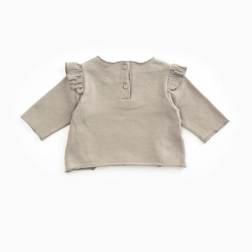 Jersey de algodón PLAY UP orgánico con volante   Woodwork [1]