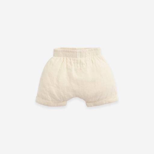 Pantalón corto de lino con bajo vuelto Play Up [1]