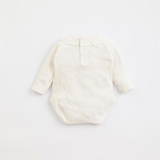 Body de algodón orgánico con abertura de corchetes PLAY UP [1]