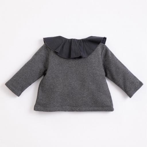 Jersey de algodón con cuello de tela PLAY UP  [1]