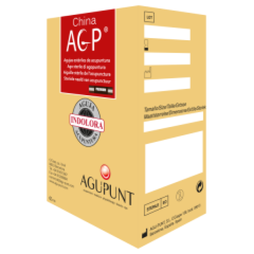 Aguja AGP Premium 0.25 x 25 (Mango Plata envase individual).